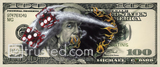 $ 100 Bill with Dice Poster Small image