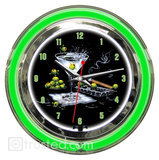 Olive Party 2 18inch Clock image