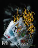 Burning Blackjack Poster Large image