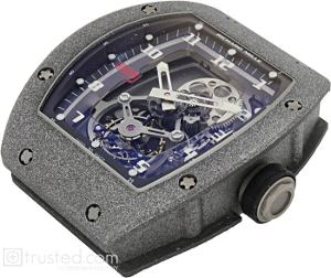 Richard Mille RM 009 Felippe Massa Tourbillon Grey Watch 508.43.91: This grey titanium watch features  manual winding tourbillon movement with hours, minutes, chronograph, split seconds, power reserve, torque and function indicator.