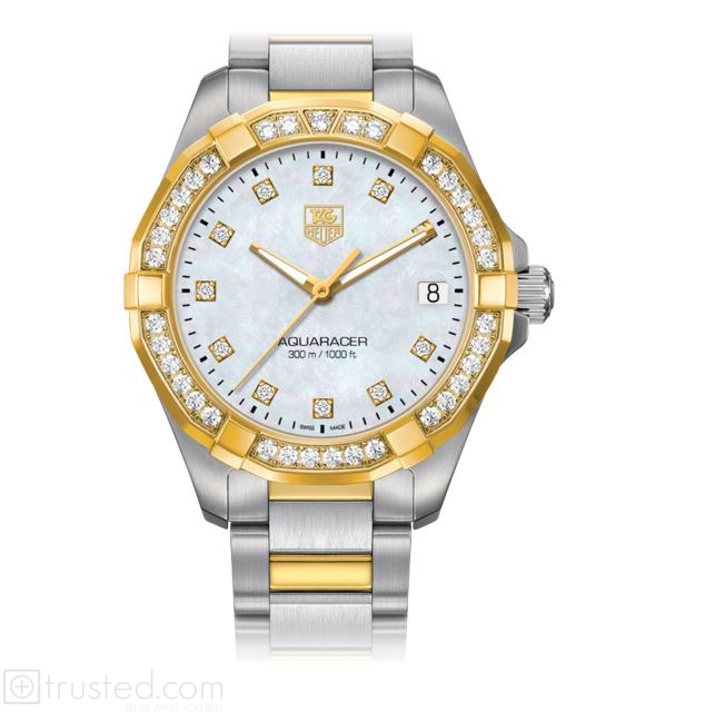 48c7b79f45822 TAG Heuer Aquaracer Lady 300M Quartz Steel   Yellow Gold MOP DDDB WAY1353. BD0917