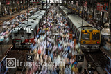 CROWDS AT CHURCHGATE STATION, INDIA, 2011 image